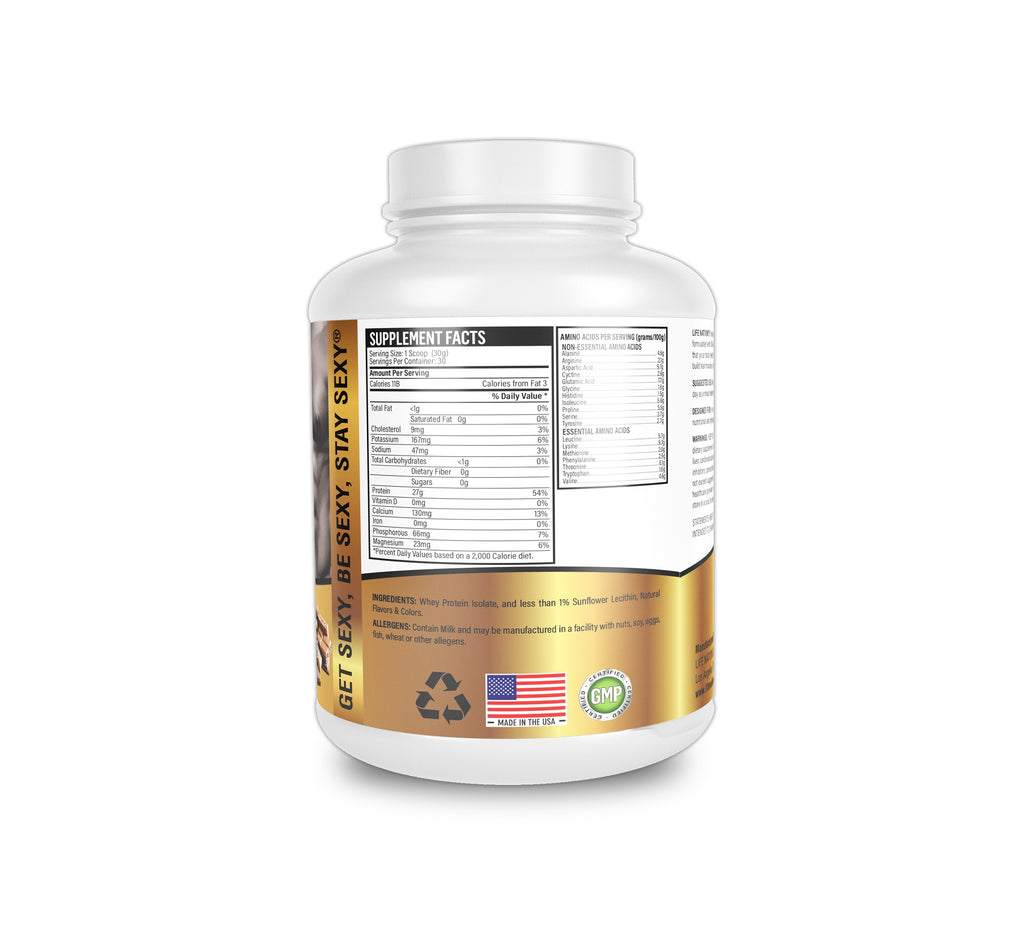 LifeNation.us Gold Whey Protein Isolate - Chocolate 2lb
