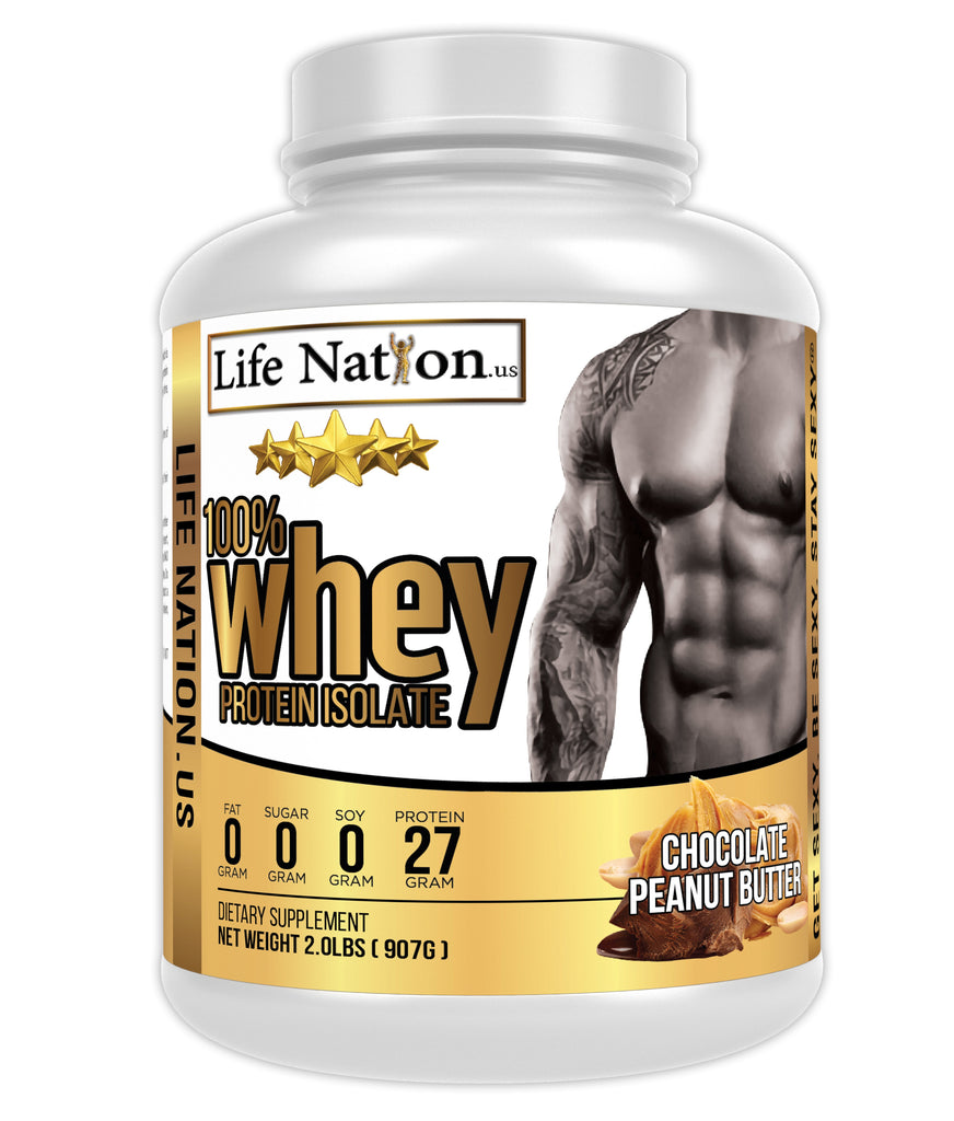 LifeNation.us Gold Whey Protein Isolate - Chocolate Peanut Butter 2lb