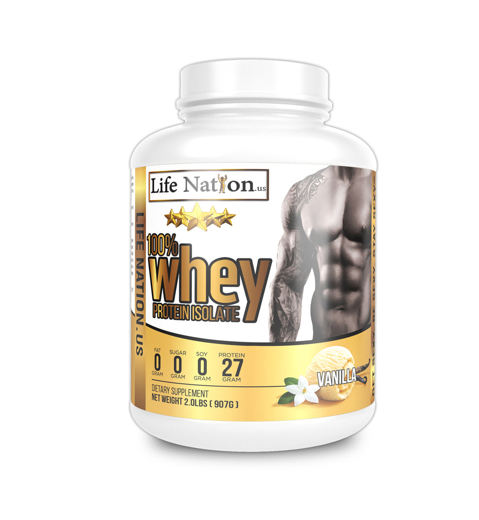 LifeNation.us Gold Whey Protein Isolate - Vanilla Cream 2lb