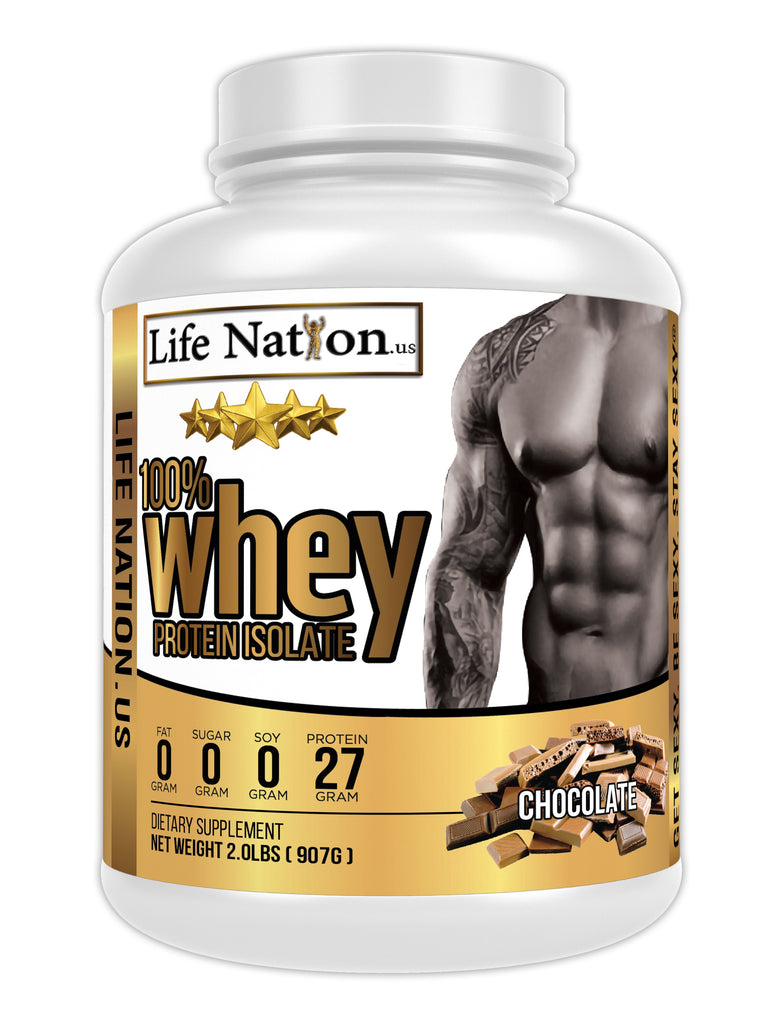LifeNation.us Gold Whey Protein Isolate - Chocolate
