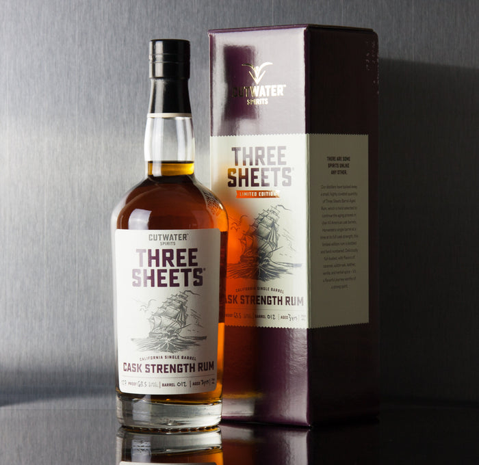 Cutwater Three Sheets Cask Strength Single Barrel Rum 750 ml