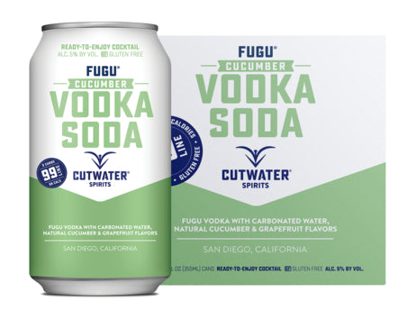 Cutwater Cucumber Vodka Soda 4 Pack