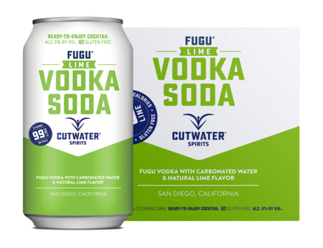 Cutwater Lime Vodka Soda 4 Pack