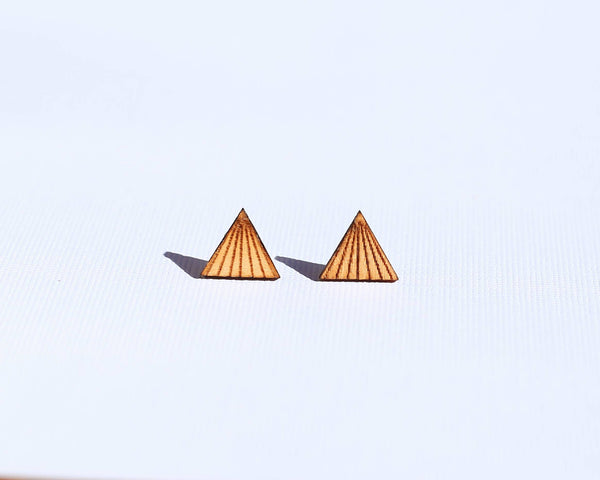 Wood Mountain Stud Earrings