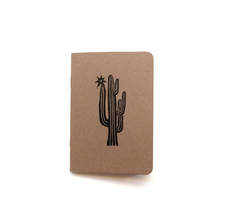 Cactus Block Print Notebook