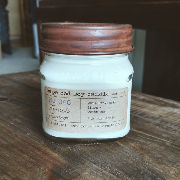 French Linen Soy Candle