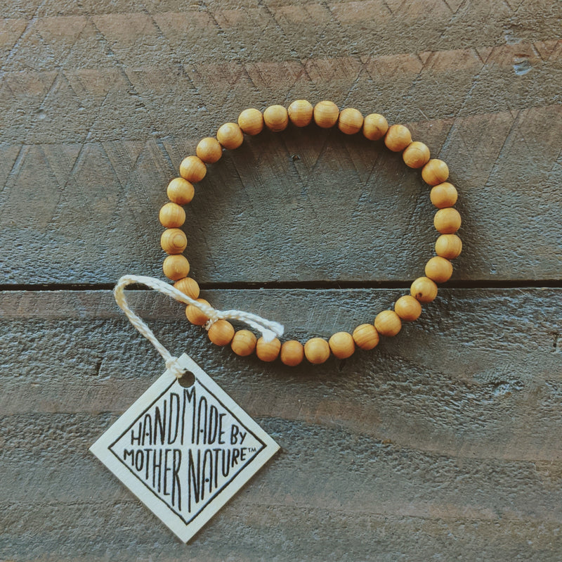 Wood Essential Oil Bracelet