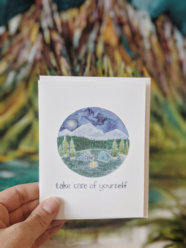 Take care of yourself card