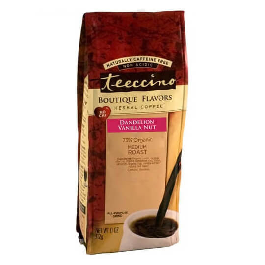 Teeccino Herbal Coffee Dandelion Vanilla Nut 312g Bag