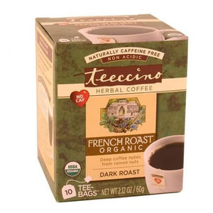 Teeccino Herbal Coffee Maya French Roast 10 Tee Bags