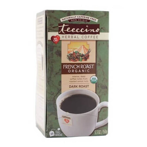 Teeccino Herbal Coffee Maya French Roast 25 Tee Bags