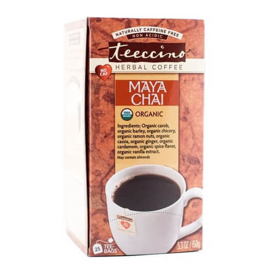 Teeccino Herbal Coffee Maya Chai 25 Tee Bags