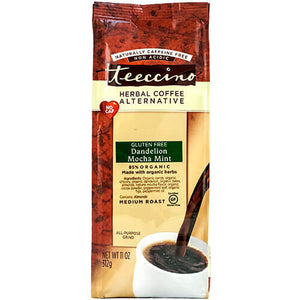 Teeccino Herbal Coffee Dandelion Mocha Mint 312g Bag
