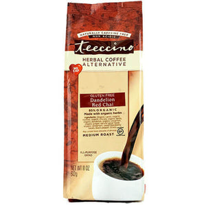 Teeccino Herbal Coffee Dandelion Red Chai 312g Bag