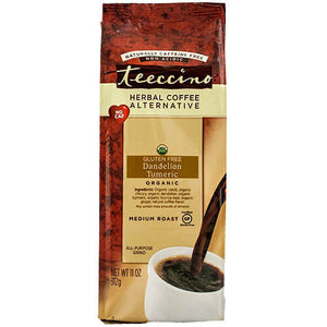 Teeccino Herbal Coffee Dandelion Turmeric 312g Bag