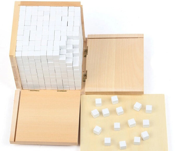 Baby Toy Montessori Volume Box with 1000 Cubes  for Early Childhood Education Preschool Training Kids Toys Brinquedos Juguetes