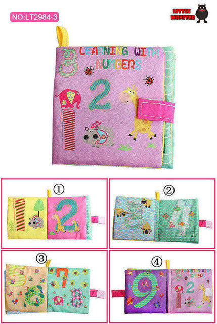 English Language Soft Fabric Cloth Book 0~12 Months Juguetes Bebe Brinquedos Para Bebe Learning&Education Baby Book Toys 2984