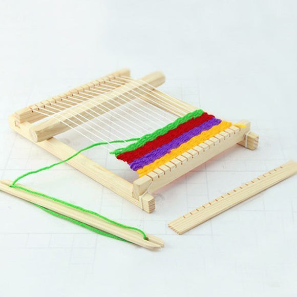 New Traditional Wooden Weaving Toy Loom with Accessories Childrens Craft Box Educational Toys Gift For Children Kids