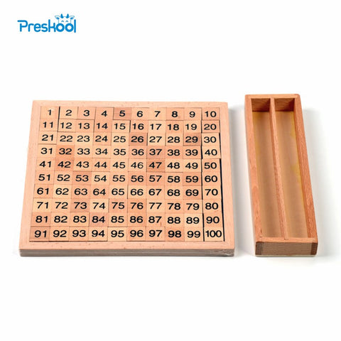 Baby Toy Montessori 100 Hundred Board 20 cm* 20 cm  Early Childhood Education Preschool Training Kids Toys Brinquedos Juguetes