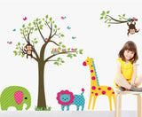 Owl Tree Giraffe Vinyl Wall Stickers kids Baby children Decor Home Wall Paper Decal deco Art Sticker New,Big