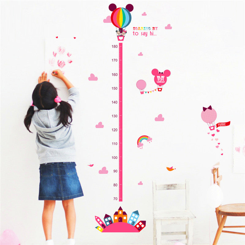 zooyoo cute balloon wall sticker childrens growth height chart kids
