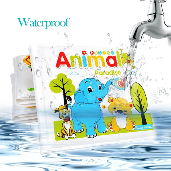 Baby Toys 0-12 Months Books For Babies Waterproof 4 Pages Animal Learning Bath Book For Toddlers Brinquedos Para Bebe