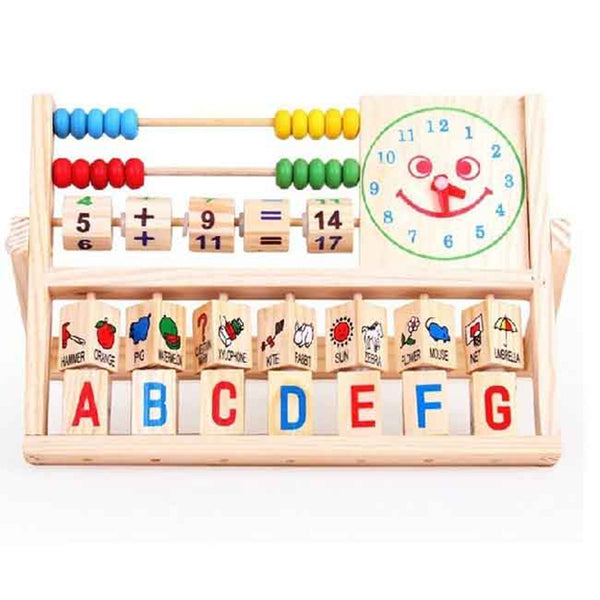 Newest Top Selling Wooden Educational Computing Rack Multifunction Flap Childrens Early Educational Fancy Toys Kids Toy
