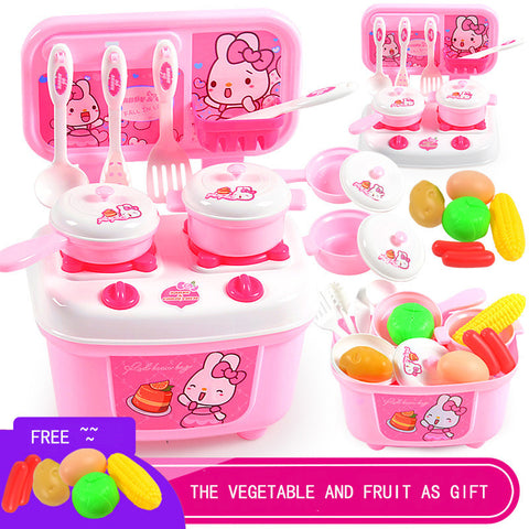 ABS plastic Mini cartoon kitchen toy set pretend play toys preschool brinquedos cooking playhouse sets gift for childrens 2-4