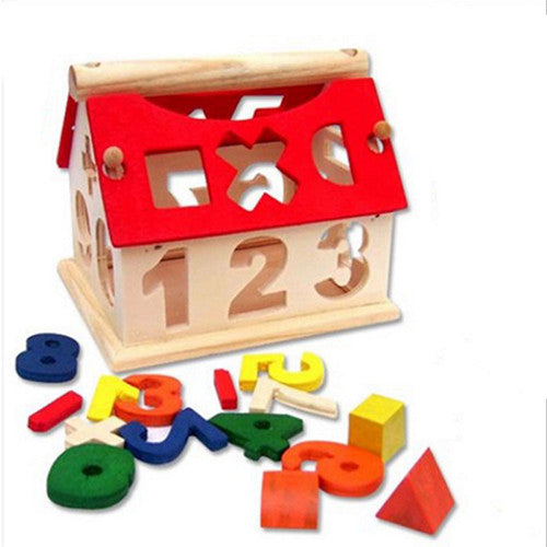 3D New Creative Wooden DIY Childrens Digital Math Colorful Building Blocks Toys Family Educational Wooden Puzzle Toys For Gifts