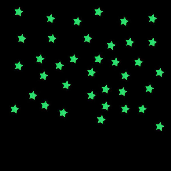 2016 wall sticker poster 100PCs  Kids Bedroom Fluorescent Glow In The Dark Stars Wall Stickers