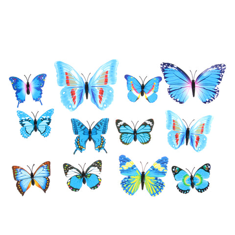 12pcs Fashion 3D Butterfly Wall Stickers DIY Decor Wall Decals For Living Room, Bedroom, Kitchen, Toilet, Kids Room Deco