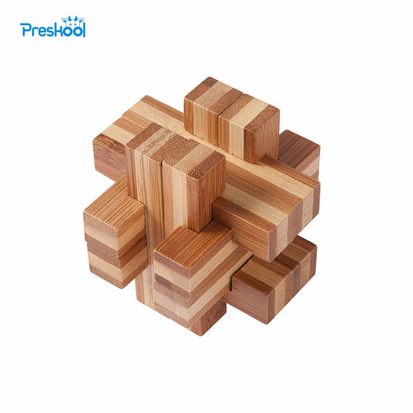 Brain Teaser Toy Chinese Kongming Lock Magic Mystery Box Jigsaw Puzzle Wood Preschool Training Brinquedos Juguets