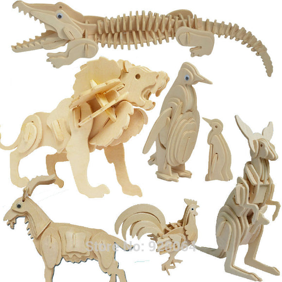 Many Animal 3d puzzle jigsaw Building Kids Puzzle Toy Learning Alphabet Puzzle Game for Preschool Kids baby toys for  children