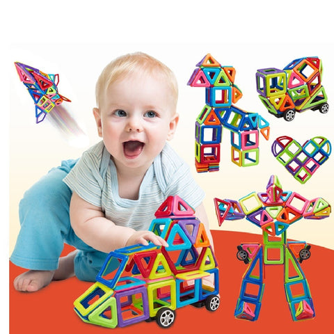 149 Pcs  Magic Building Block Magnetic Toys Preschool Skills Educational Game Construction Stacking Sets Block Brick