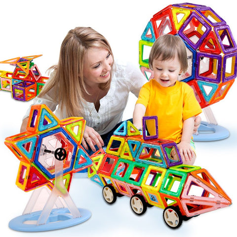 114PCS Mini Magnetic Designer Construction Toy Kids Educational Toys Plastic Creative Bricks Enlighten Magnetic Building Blocks