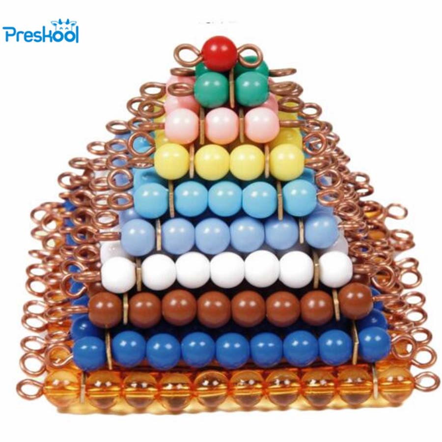 Baby Toy Montessori Colorful Beads Stair Math Teaching Square 1 to 10 Preschool Early Learning Kids Toys Brinquedos Juguetes