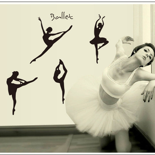 candiway Ballet dancer Wall Sticker Room grils Home Decor Nursery Wall Decal Poster Deco poster Home Decoration 60*90cm NE116