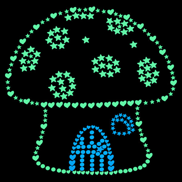 Glow Stickers for Kids Room Decoration Home Decor Luminous Wall Sticker Bedroom Ceiling Deco Stars Circles Hearts Sticker Decal