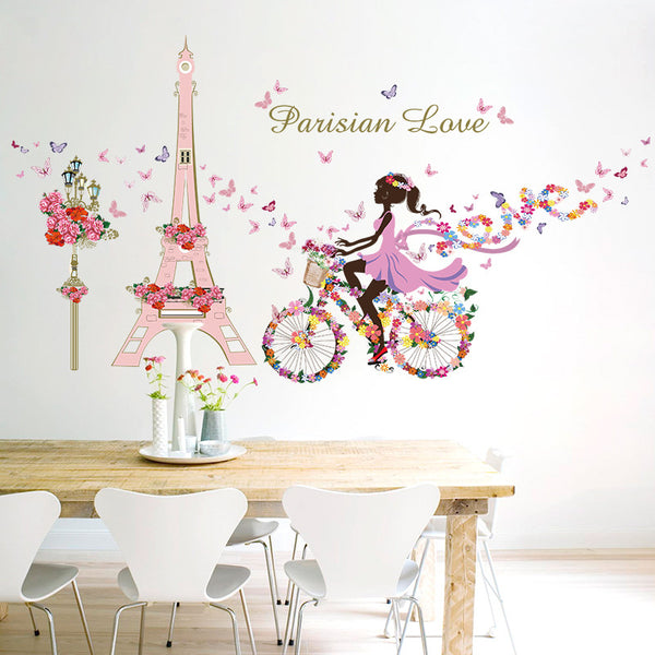 wall decal stickers muraux francais Wall Stickers Romance Decoration Wall Poster Home Decor DIY deco maison tapety