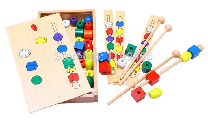 Montessori Bead Sequencing Set Block Toys Classic Toy