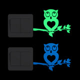 Cartoon Owl Glow Switch Sticker Home Decor Luminous Wall Sticker Kids Room DIY Decoration Glowing Decal Children Bedroom Deco
