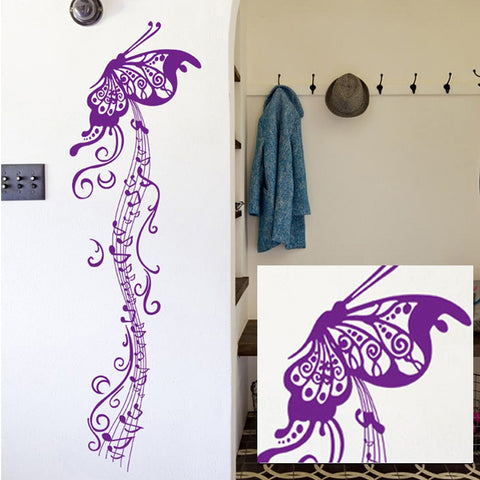 candiway Purple Butterfly Wall Sticker Room Home Decor Nursery Wall Decal Poster Art Deco poster Home Decoration 60*90cm NE119