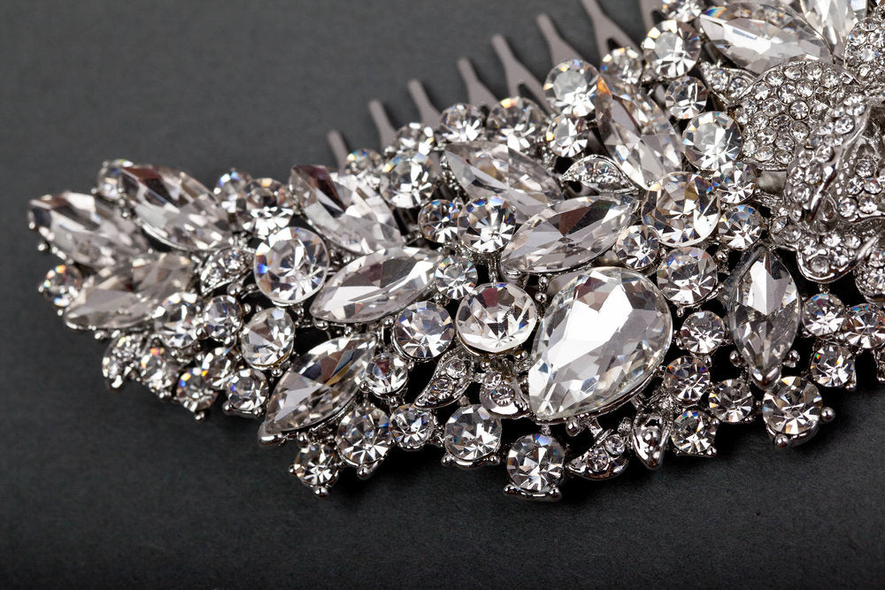 Jeweled Wedding Hair Comb