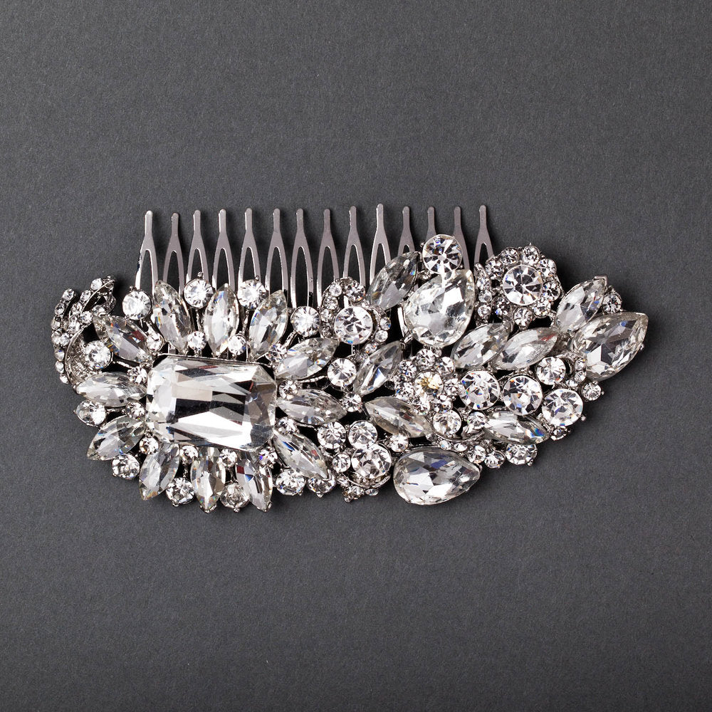 Jewel Feathered Hair Comb