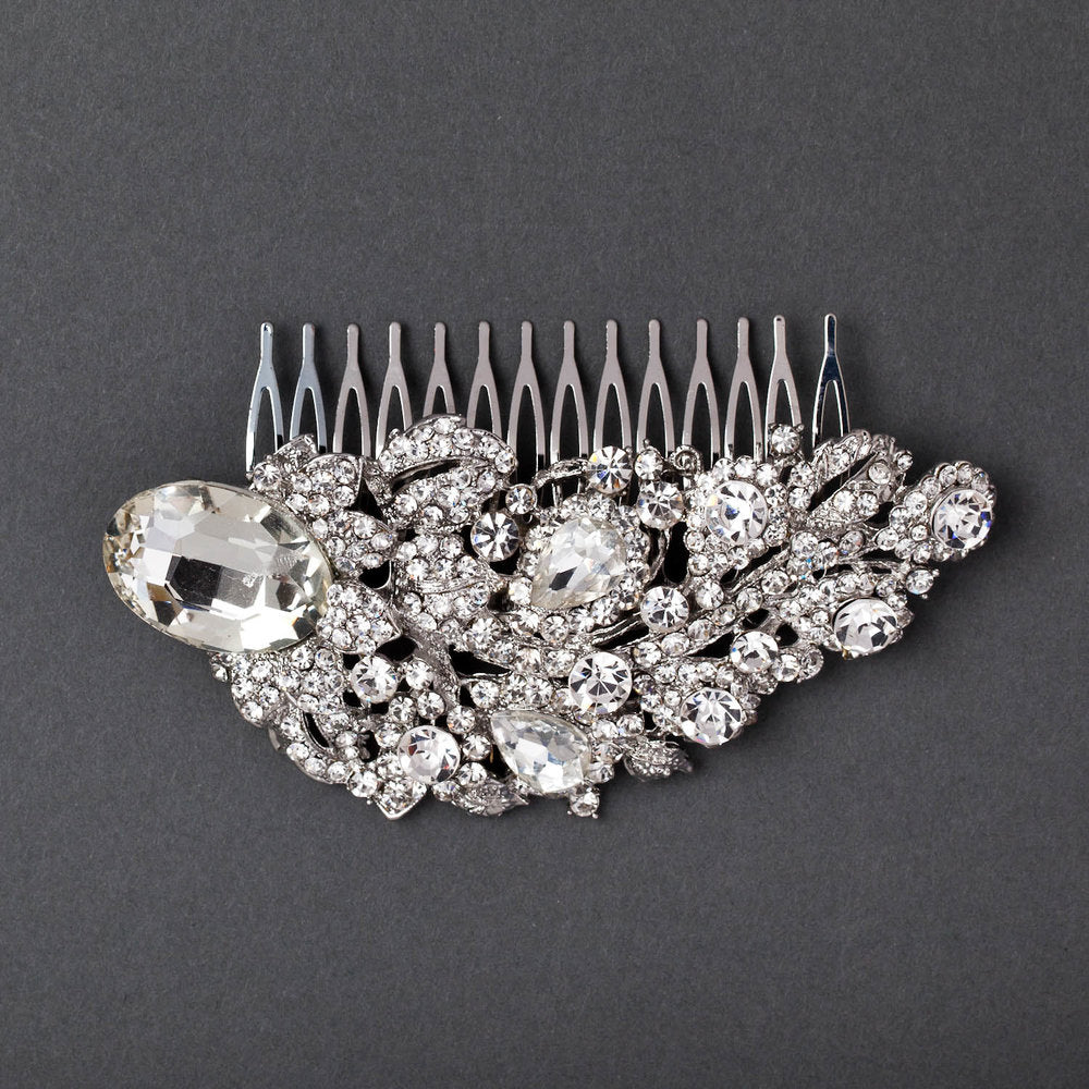 Jeweled Petal Hair Comb
