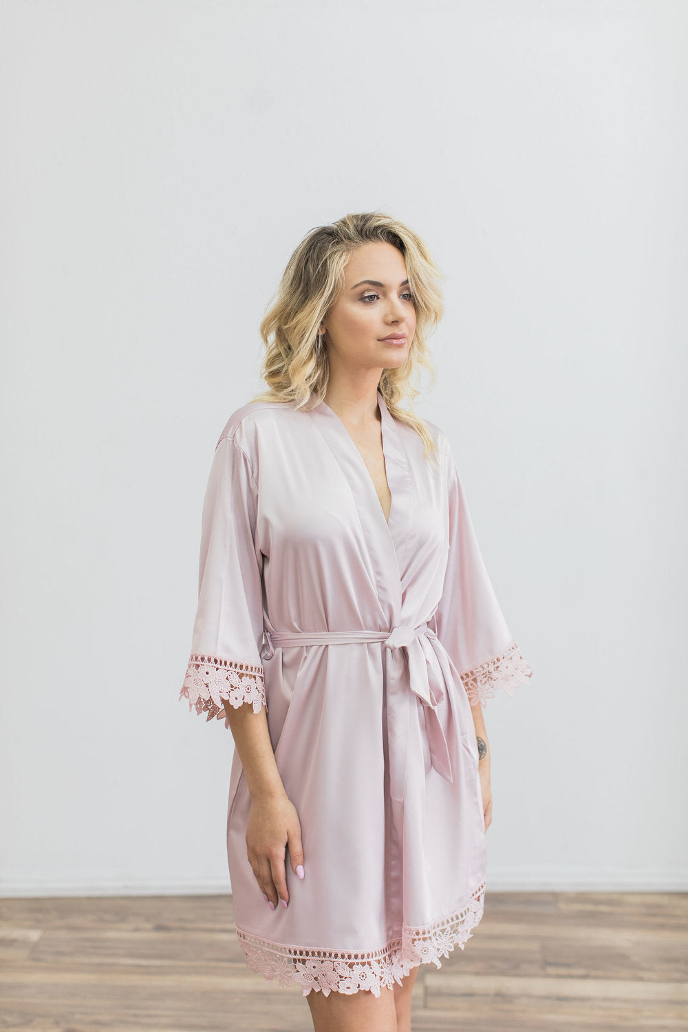 Nude Lace Robe