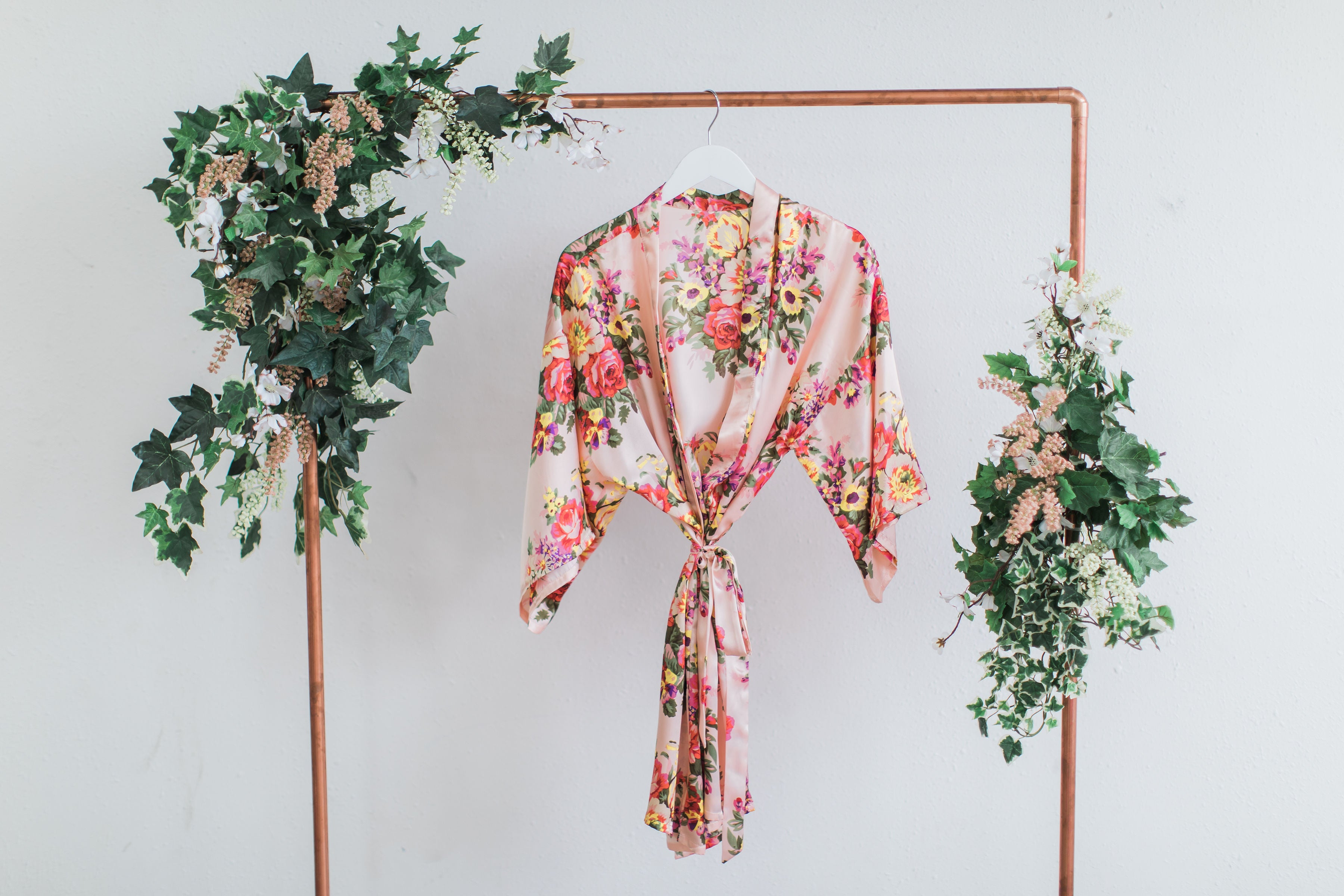 Blush Floral Bridesmaid Robe