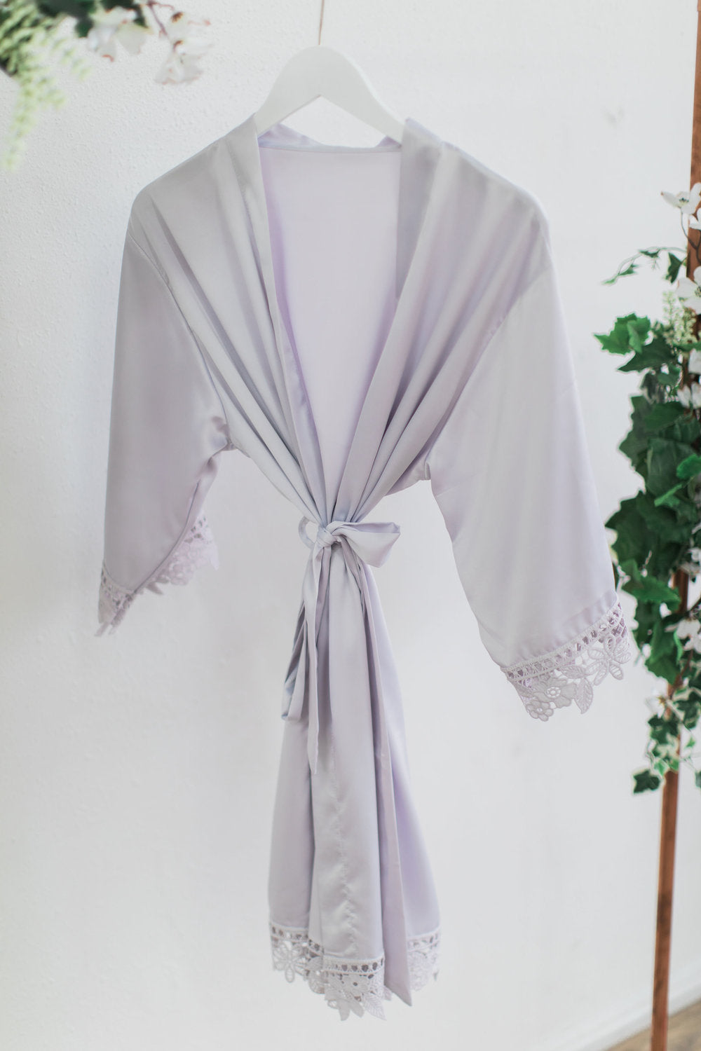 Gray Lace Robe