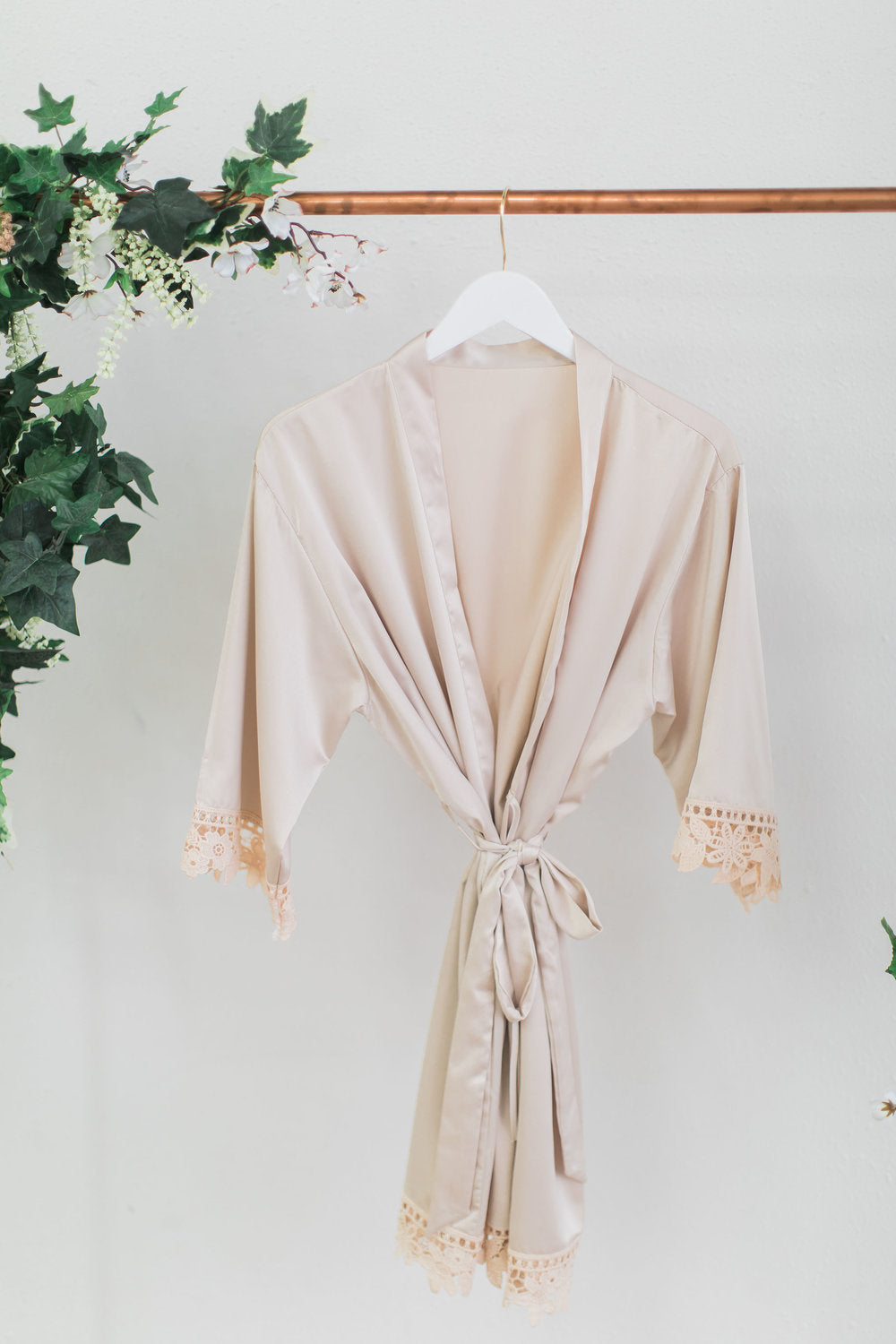 Champagne Lace Robe