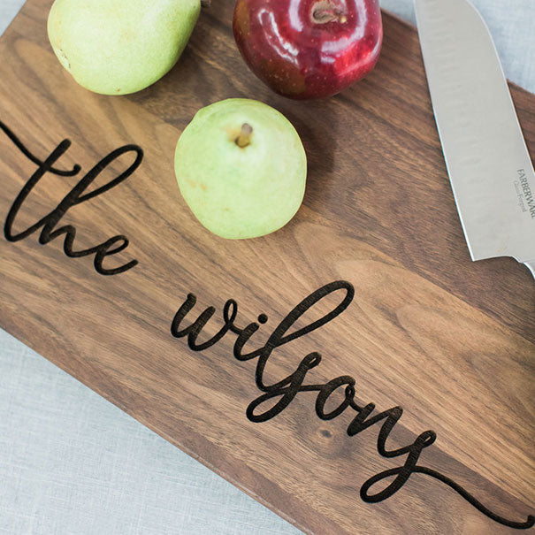 Cutting Board Last Name